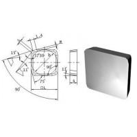 Пластина SPKN  - 1504  EDR  Р40 квадратная (03371) гладкая без отверстия с зачистными фасками