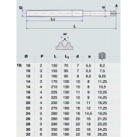 Метчик TR16,0 х 4,0  м/р.Р6АМ5 для трапецеидальной резьбы DIN 103