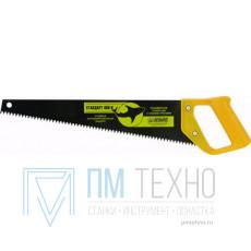 Ножовка 400мм прямой шаг 4,5мм с пластмассовой ручкой, скош. полотно