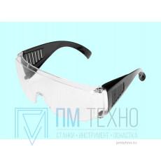 Очки защитные прозрачные с дужками (12219)
