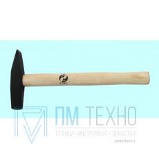 Молоток сварщика 200 г. с деревянной ручкой для снятия окалины