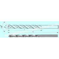 Сверло d 10,8х115х195  ц/х  Р9  удлиненное с вышлифованным профилем