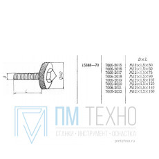 Винт нажимной М12х1,5х 60 D40мм (7006-2016) ГОСТ 15388-70